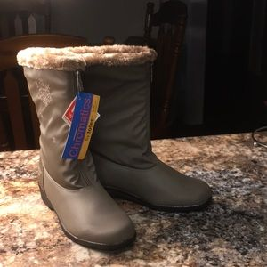 Chromatics by Totes Snowflake Boots 7W Taupe